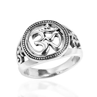 Harmony Symbol Aum or Ohm .925 Sterling Silver Ring (Thailand)