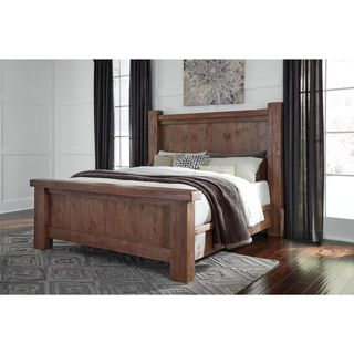 Signature Design by Ashley Tamilo Gray/Brown Poster Bed