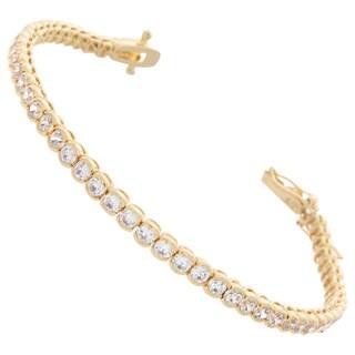NEXTE Jewelry Round Crescent-set Cubic Zirconia Tennis Bracelet