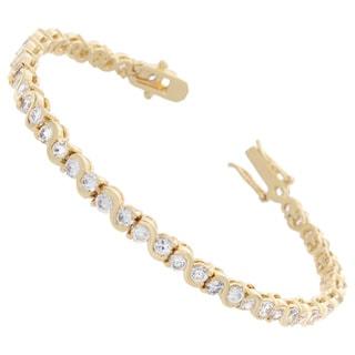 NEXTE Jewelry Cubic Zirconia Pirouette Swriled Tennis Bracelet