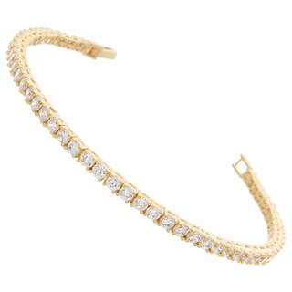 Nexte Jewelry Goldtone or Slivertone Cubic Zirconia Tennis Bracelet