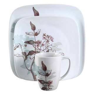 Corelle Square Twilight Grove 16-Piece Dinnerware Set