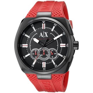 Armani Exchange Men's AX1803 'Active' Chronograph Red Silicone Watch