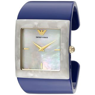 Emporio Armani Women's AR7396 'Donna Catwalk' Blue Plastic Watch