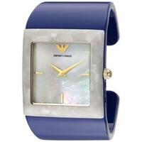 Emporio Armani Women's  'Donna Catwalk' Blue Plastic Watch