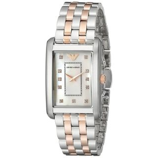 Emporio Armani Women's AR1905 'Classic' Crystal Two-Tone Stainless Steel Watch