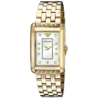 Emporio Armani Women's AR1904 'Classic' Crystal Gold-Tone Stainless Steel Watch