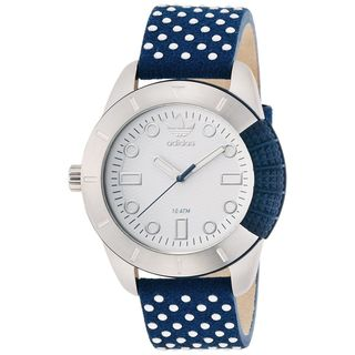 Adidas Men's ADH3054 'Manchester' Blue Leather Watch