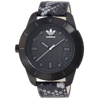 Adidas Men's ADH3043 'Manchester' Black Leather Watch