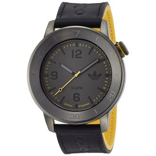 Adidas Men's ADH3027 'Manchester' Black Leather Watch