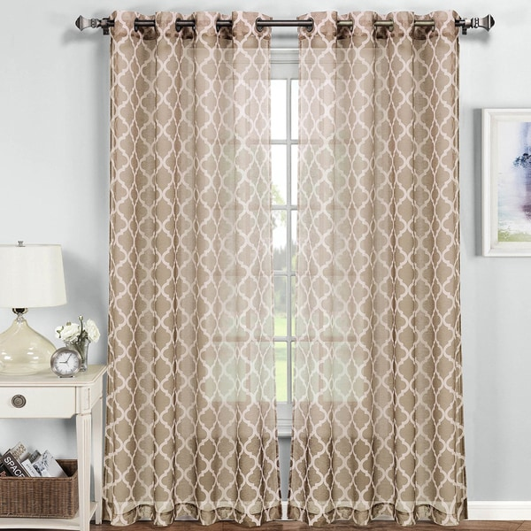 Wrap Around Curtain Rod Bathroom Sheer Curtains