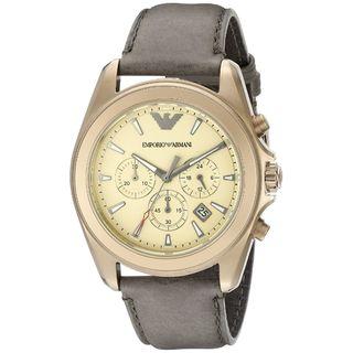 Emporio Armani Men's AR6071 'Sportivo' Chronograph Brown Leather Watch