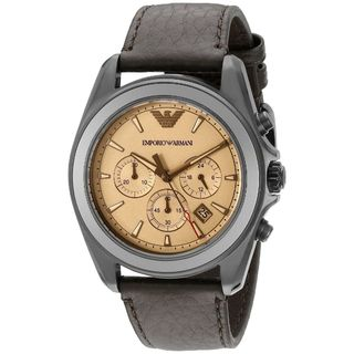 Emporio Armani Men's AR6070 'Sportivo' Chronograph Brown Leather Watch