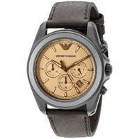 Emporio Armani Men's  'Sportivo' Chronograph Brown Leather Watch
