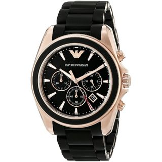 Emporio Armani Men's AR6066 'Sportivo' Chronograph Black Stainless Steel Watch