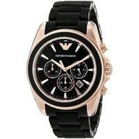 Emporio Armani Men's AR6066 'Sportivo' Chronograph Black Stainless Steel Watch