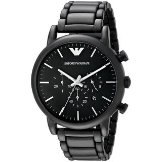Emporio Armani Men's AR1895 'Classic' Chronograph Black Stainless Steel Watch