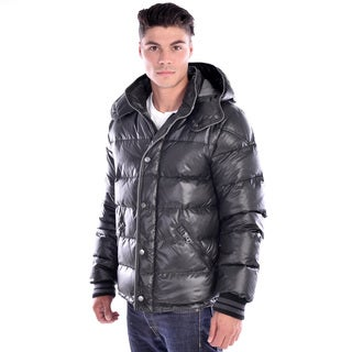 Men's Black Down Puffer Jacket