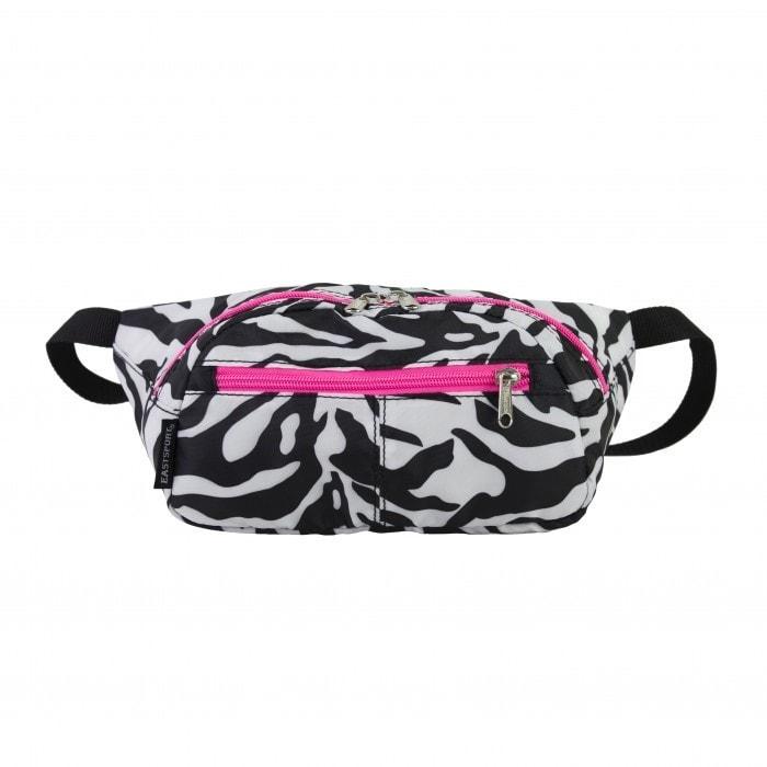 Eastsport Absolute Zebra Sport Belt Bag (Zabra/Pink), Black