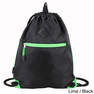 Eastsport Drawstring Sackpack with Diamond Patch (Option: Lime)