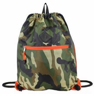Eastsport Camo Drawstring Sackpack with Diamond Patch