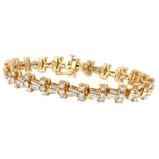 14k Yellow Gold 10.5ct TDW Diamond Bracelet (H-I, SI1-SI2)