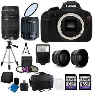 Canon T5 Digital Camera 24GB Complete Deluxe Bundle