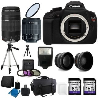 Canon T5 Digital Camera 24GB Complete Deluxe Bundle