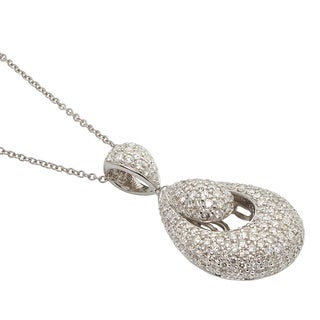 Kabella Luxe 18k White Gold 2 5/8ct TDW Diamond Teardrop Necklace (G-H, SI1)