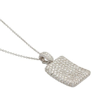 Kabella Luxe 18k White Gold 4 1/2ct TDW Diamond Square Necklace (G-H, SI1)