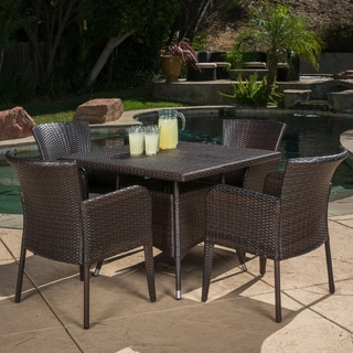 Corsica Outdoor 5 Piece Wicker Dining Set By Christopher Knight Home