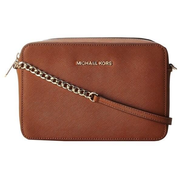 937d500b6d90f Michael Kors Jet Set Travel Large East/ West Luggage Brown Crossbody Handbag