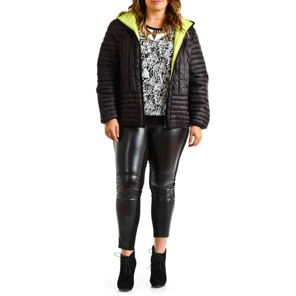 1f4fabd9797d2 Halifax Traders Women  x27 s Plus Size Black Hooded Down Puffer Packable  Coat