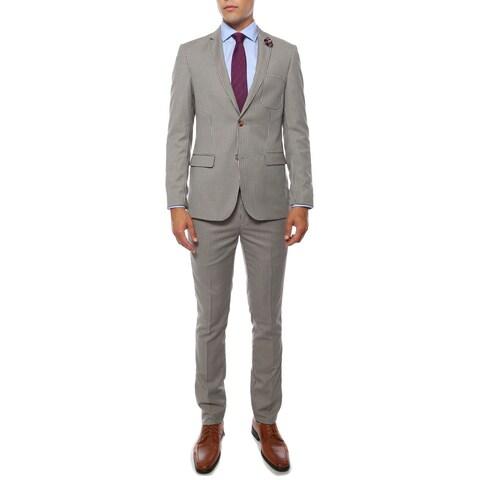 Zonettie Men's 'Monaco' Hennessey Check Super Slim Fit 2-Piece Suit