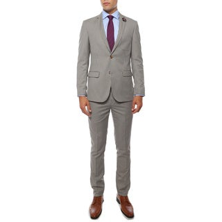 Zonettie Men's 'Monaco' Hennessey Check Super Slim Fit 2-Piece Suit