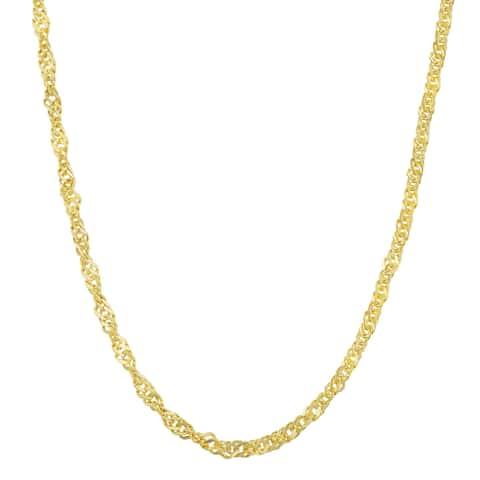Fremada 10k Yellow Gold 2.2-mm High Polish Singapore Chain (18 - 20 inches)