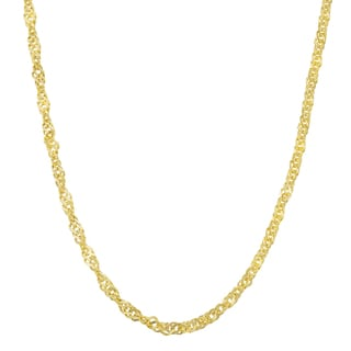 Fremada 10k Yellow Gold 2 2 Mm High Polish Singapore Chain 18 20 Inches