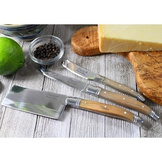 French Home Laguiole Olive Wood Cheese Knives (Set of 3)