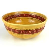 Handmade Large Honey Round Bowl Encantada Pottery (Mexico)