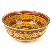 Handmade Large Round Bowl in Red - Encantada Pottery (Mexico)