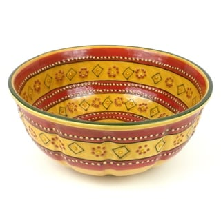 Handmade Large Round Bowl in Red - Encantada Pottery (Mexico)  sc 1 st  Overstock & Mexico Dinnerware For Less | Overstock