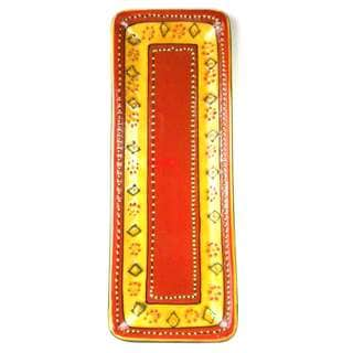 Hand-painted Long Platter in Red - Encantada Pottery (Mexico)