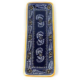 Handmade Long Platter in Blue - Encantada Pottery (Mexico)|https://ak1.ostkcdn.com/images/products/10701673/P17762348.jpg?impolicy=medium
