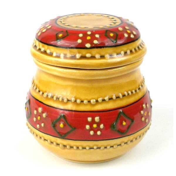 Handmade Sugar Bowl in Honey - Encantada Pottery (Mexico)