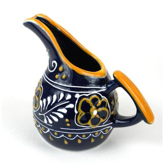 Hand-painted Mini Creamer in Blue - Encantada Pottery (Mexico)