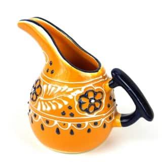 Handmade Encantada Pottery Mini Creamer (Mexico)|https://ak1.ostkcdn.com/images/products/10701680/P17762354.jpg?impolicy=medium