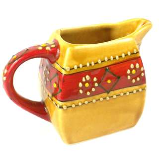 Hand-painted Mini Creamer in Honey - Encantada Pottery (Mexico)