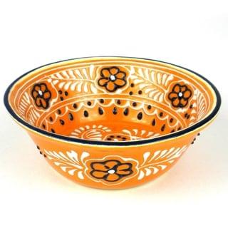 Handmade Round Bowl in Mango - Encantada Pottery (Mexico)