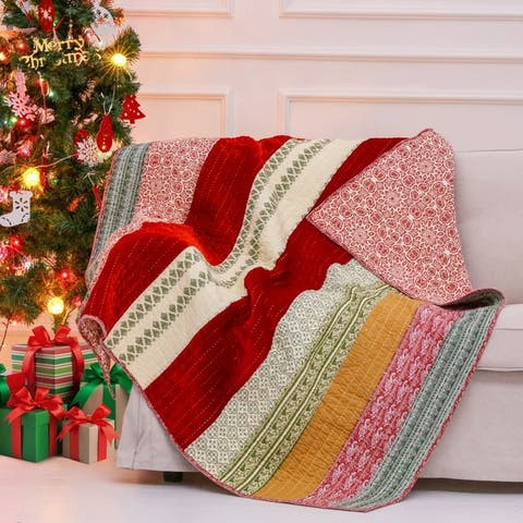 Greenland Home Fashions Marley Quilted Cotton Throw