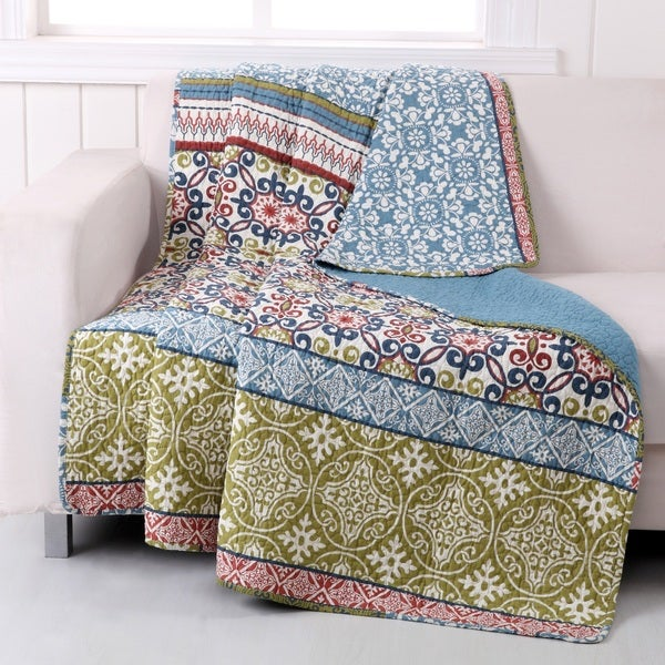 Greenland Home Fashions Shangri-La Quilted Cotton Throw